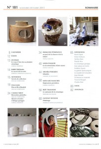 Sumario de la revista Larevie de la céramique et du verre