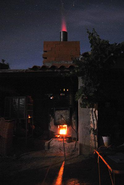 cocción en horno de leña