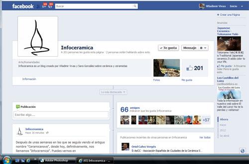 pagina de inicio de infoceramica en facebook