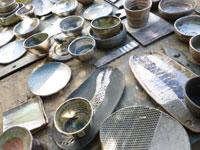 piezas de cerámica raku