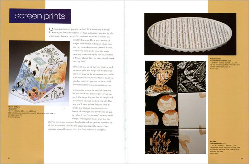 """Páginas interiores del libro """"Image Transfer on Clay"""""""