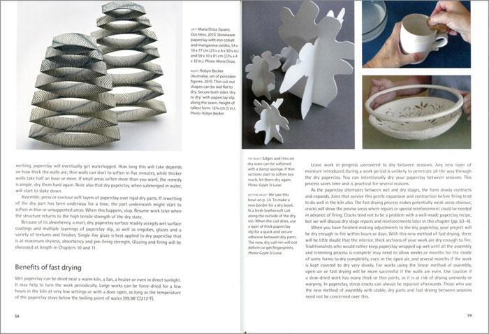 Páginas interiores del libro Paperclay
