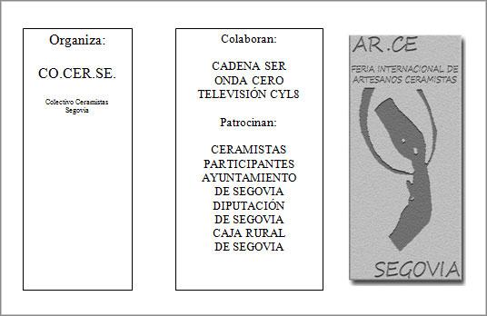 Logo de la Feria de alfarería y cerámica de Segovia