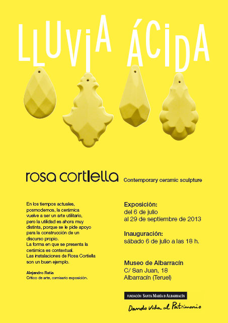 Folleto de la exposición de Rosa Cortiella