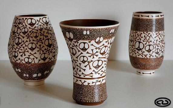 Piezas de cerámica de Carlos San Claudio