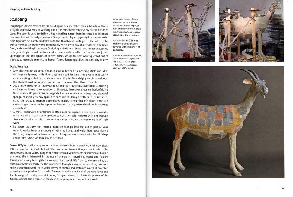Páginas interiores del libro Sculpting and Handbuilding