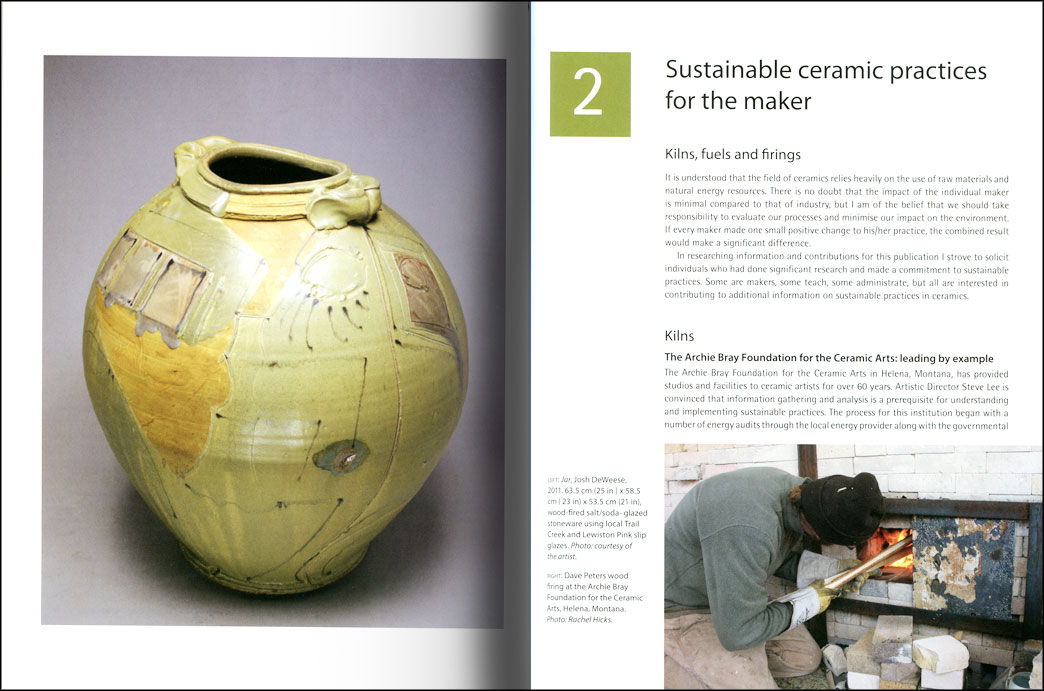 Páginas interiores del libro Sustainable Ceramics