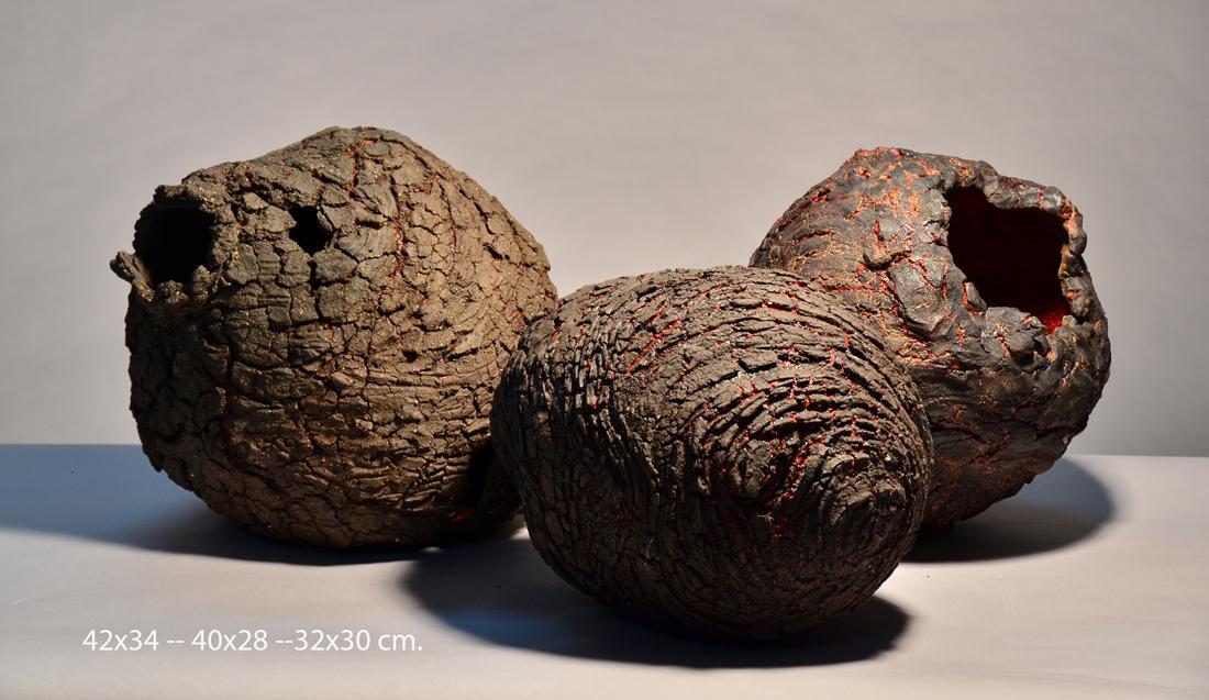Escultura cerámica de Lourdes Riera