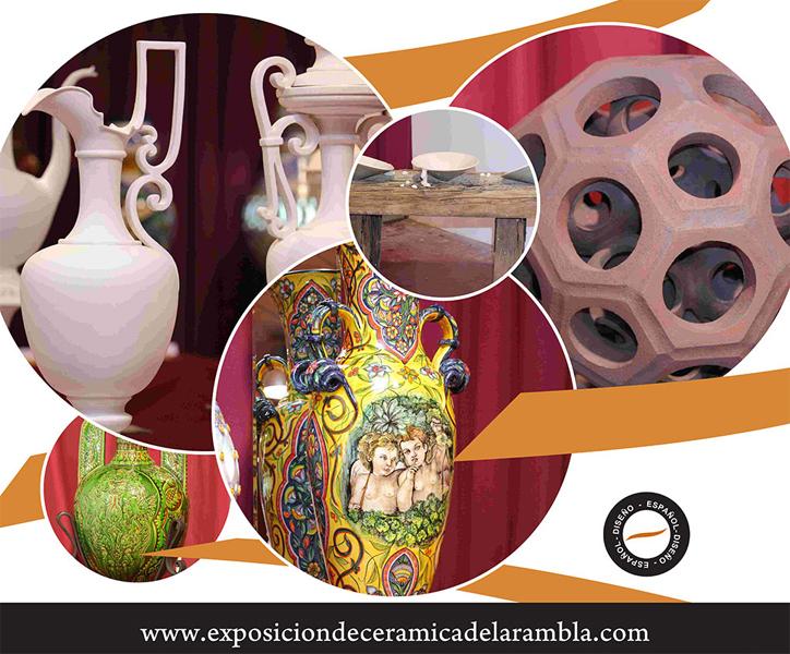 Cartel del Concurso de cerámica de la Rambla
