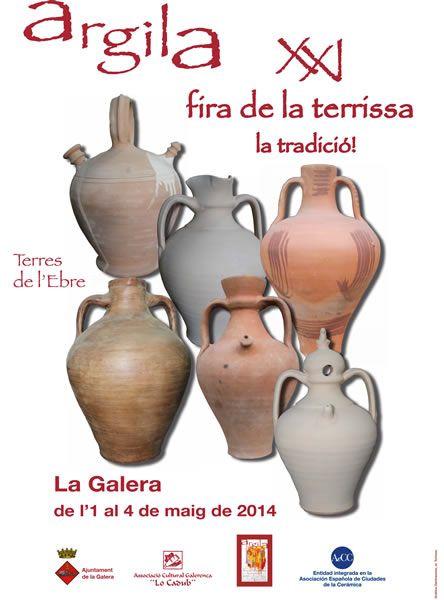 Cartel de la Feria de alfarería de La Galera