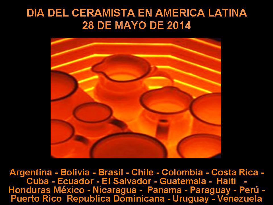 Cartel del Día del Ceramista 2014