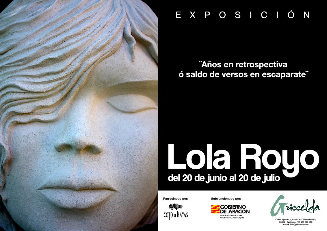 Invitación de la exposición de Lola Royo