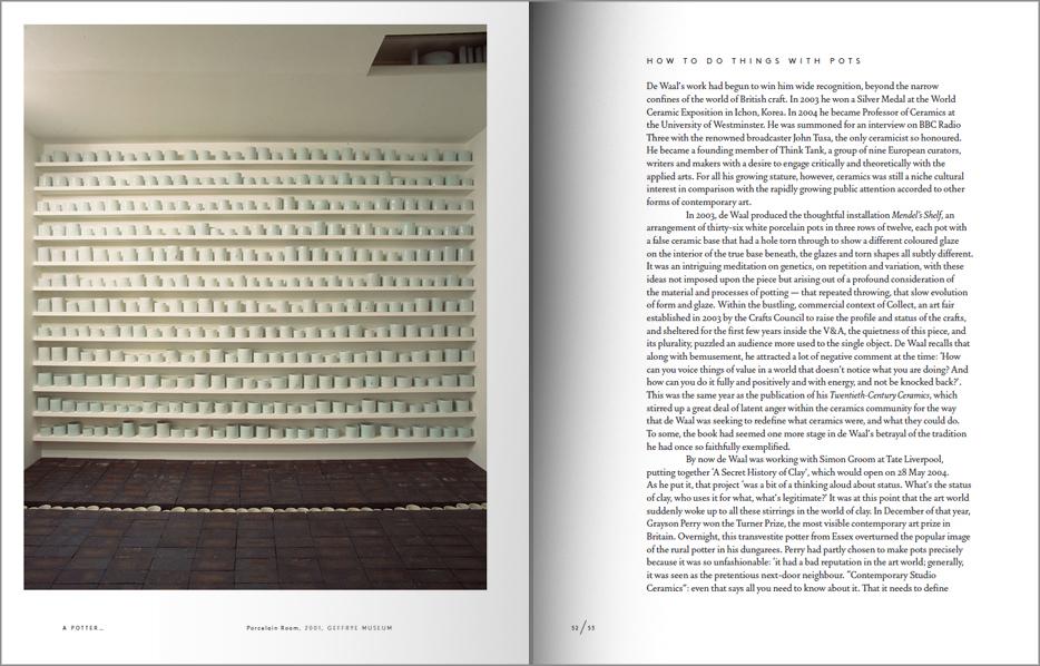 Páginas interiores del libro Edmund de Waal