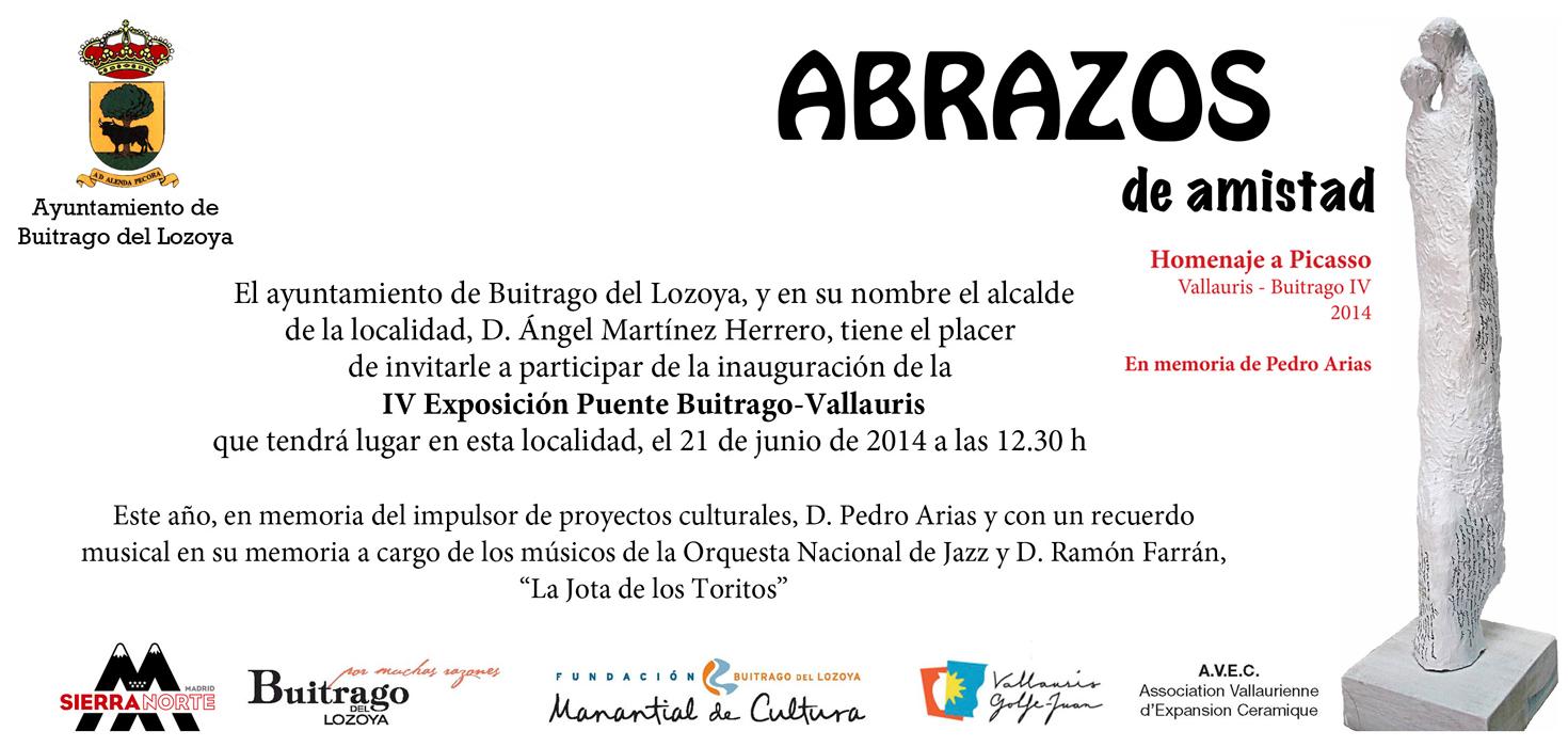 Invitación de la Exposición Buitrago-Lozoya