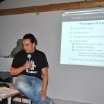Ángel Igual en su conferencia en la Conferencia Europea de Cocciones de leña