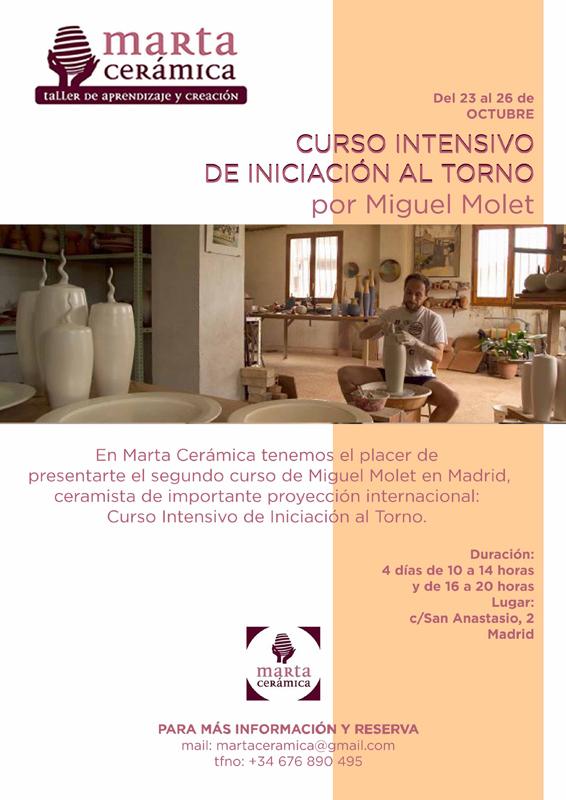 Cartel del curso de Miguel Molet