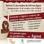 Cartel de la feria de artesanía y gastronomía de agost