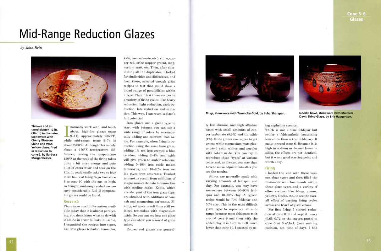 Páginas interiores del libro -Cone 5-6-, de la editorial American Ceramic Society