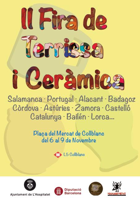 Cartel de la II Feria de alfarería y cerámica de Hospitalet