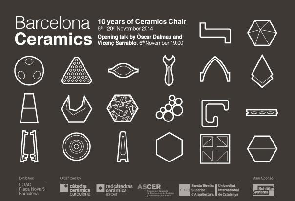 Cartel de la exposición de la Cétedra Cerámica