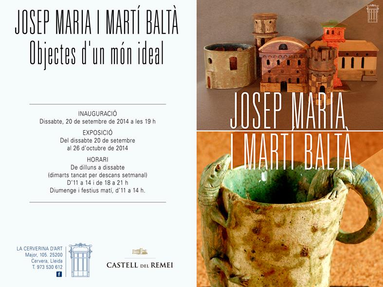 Invitación de la exposición de Cèramiques Balta