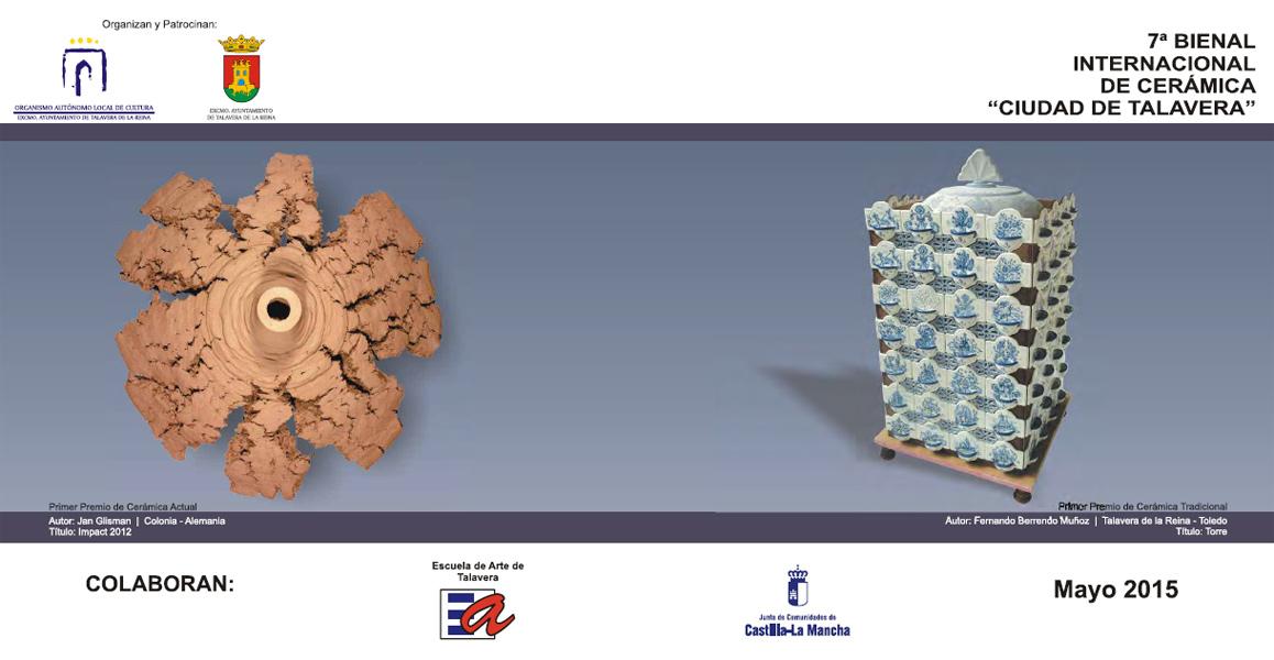 Cartel de la 7 Bienal de cerámica de Talavera de la Reina