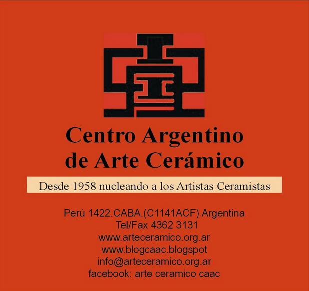Cartel del Centro Argentino de Arte Cerámico - CAAC