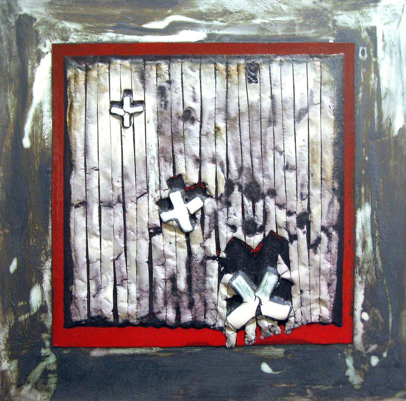 Pieza de pintura cerámica de Alberto Hernández