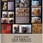 Cartel de la exposición de cerámica de Dolores Miralles