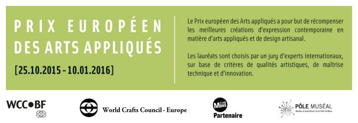 Cartel del Premio Europeo de Artes Aplicadas