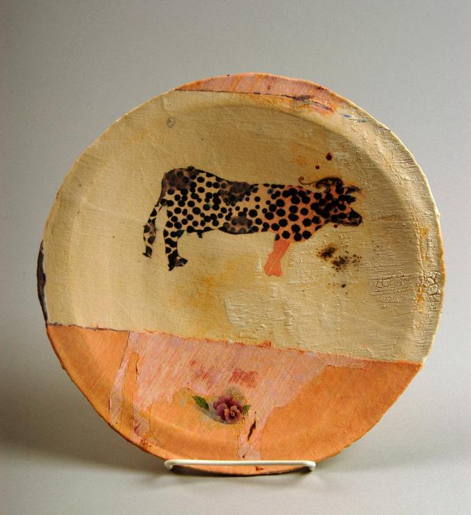 Pieza de cerámica de John Chalke (1940-2014)