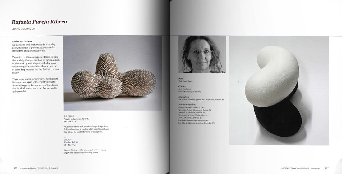 Páginas interiores del catálogo del European Ceramic Context 2015