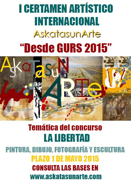 Cartel del concurso Askatasunarte 2015
