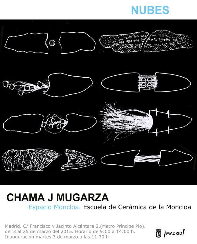 Invitación de la exposición de Chama J. Mugarza