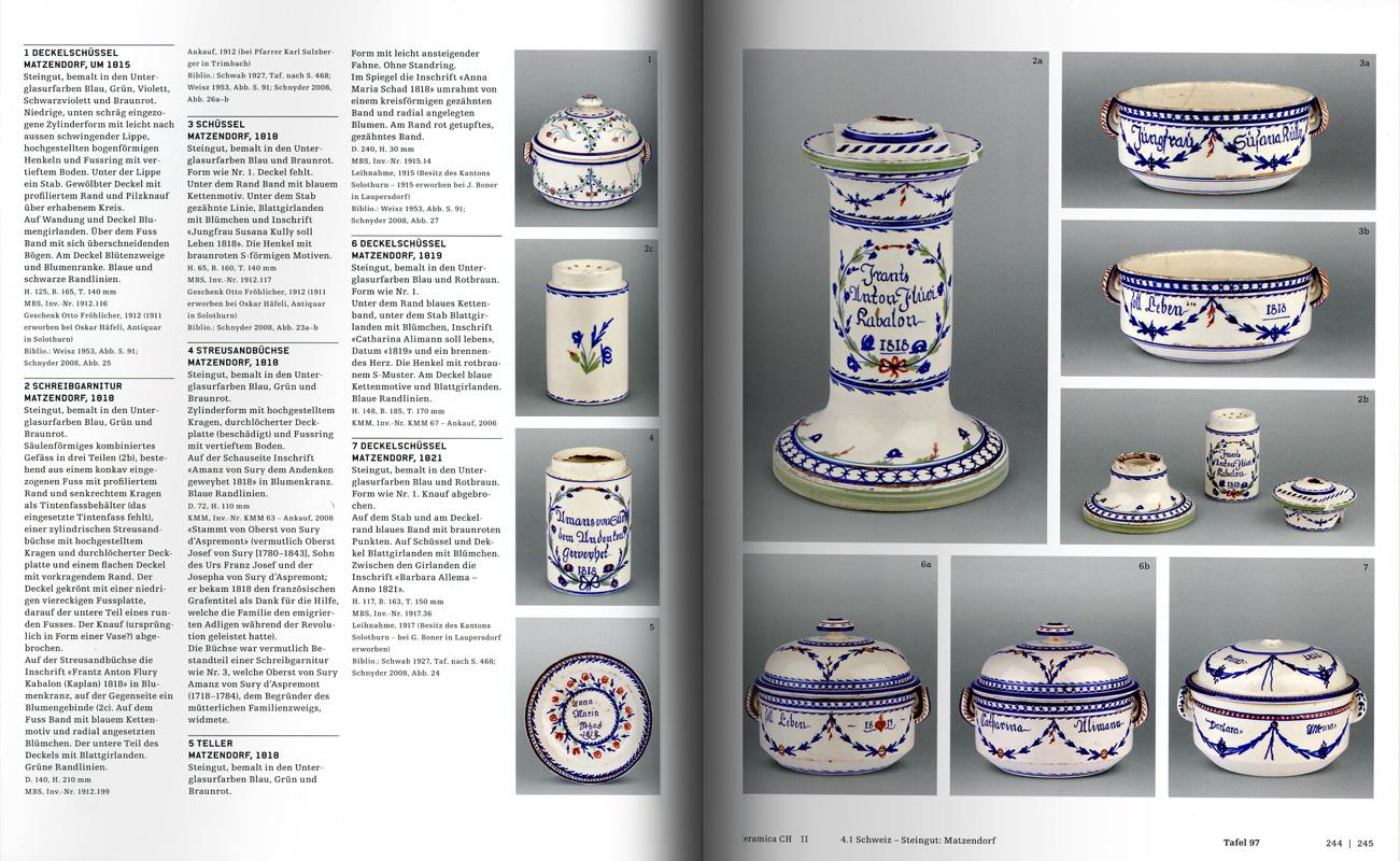 Páginas interiores del libro -Ceramica ch II - Solothurn-