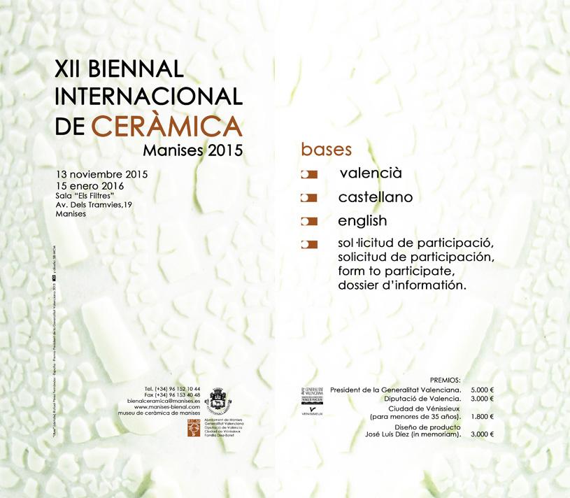 Cartel de la bienal de Manises 2015