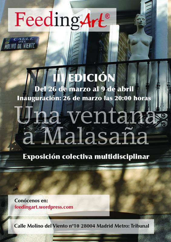Cartel de la exposición Una ventana a Malasaña
