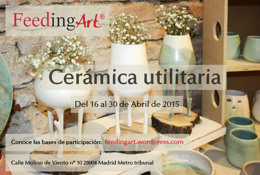 Cartel de la exposición de cerámica utilitaria en Feeding Art