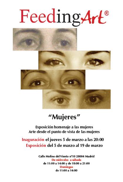 Cartel de la exposición -Mujeres-