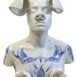 Pieza de cerámica de Ana Cruz