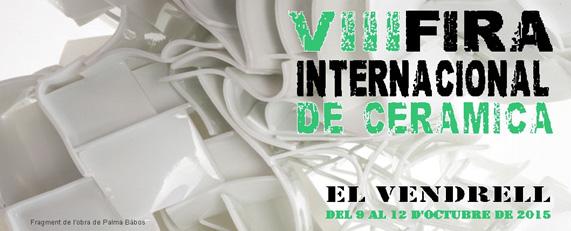 Cartel de la feria de cerámica de El Vendrell