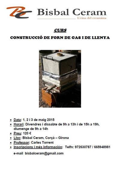 cartel del curso de hornos