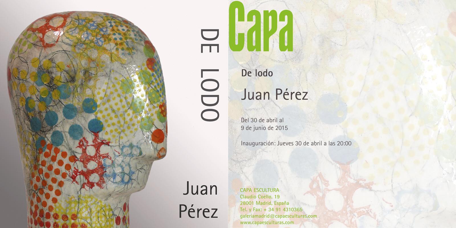 Invitación a la exposición de Juan Pérez