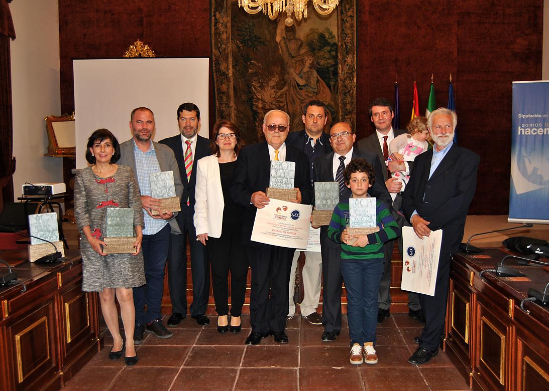 Foto de los ganadores de los premios AeCC 2015