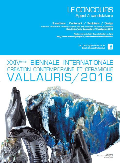 Cartel de la Bienal Internacional de Cerámica de Vallauris