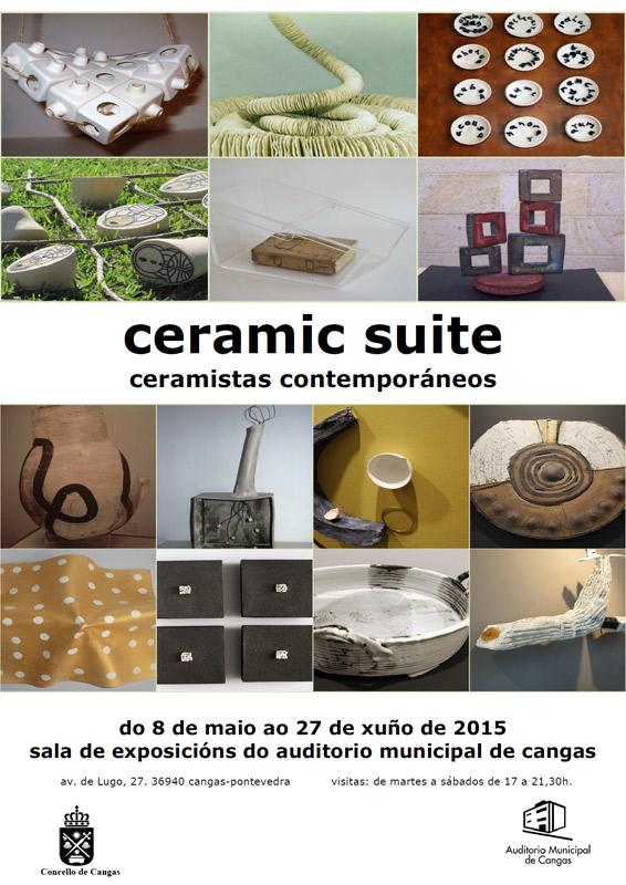 Cartel de la exposición -Ceramic Suite-Cerámica Contemporánea-