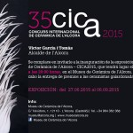 Cartel de la Exposición del CICA en elMuseo de cerámica de la Alcora