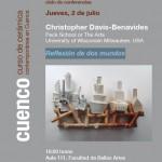 Cartel de la conferencia de Christopher Davis-Benavides en Cuenca