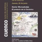 Cartel de la conferencia de Xavier Monsalvatje en Cuenca