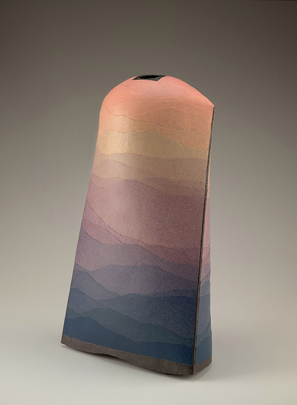 Pieza de cerámica de Miyashita Zenji